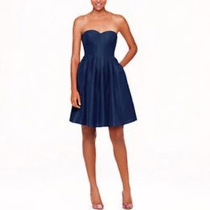 J.crew Marlie Strapless Sweetheart Pleated Dress